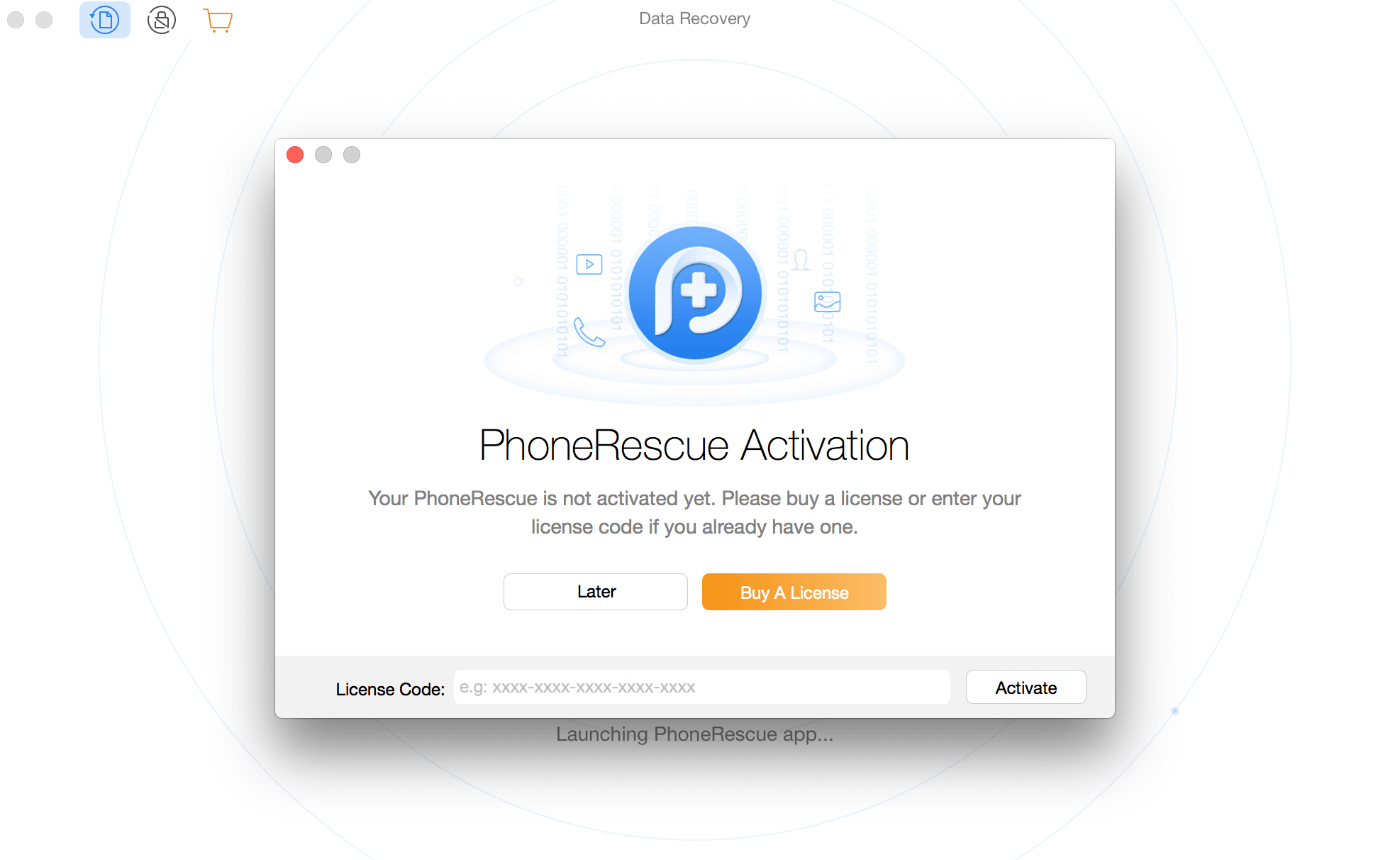 Activating PhoneRescue for SAMSUNG