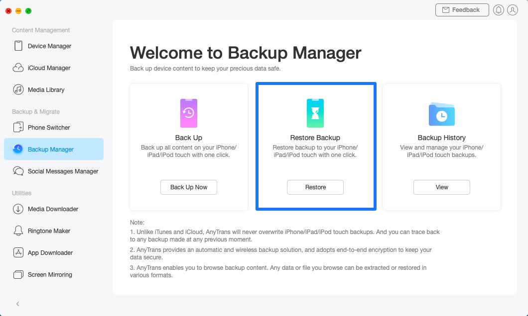 Restore Backup - 4