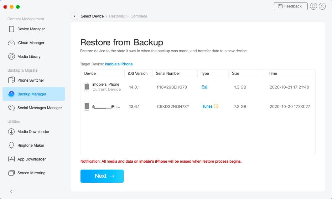 Restore Backup - 5