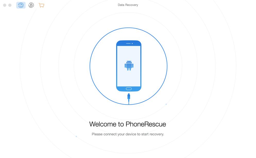 مرحبا بكم في واجهة برنامج PhoneRescue for Android