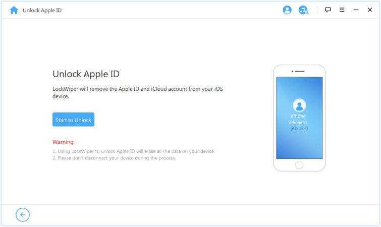 الصفحة الرئيسية لبرنامج iMyFone LockWiper