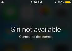 مشكلة Siri غير متوفر