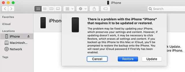 حل مشكلة تعليق الايفون على شعار ابل مع iTunes