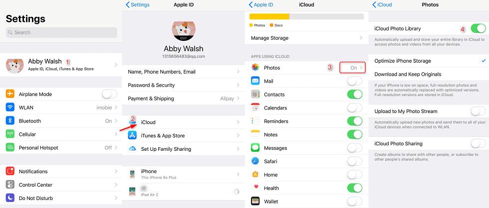كيفية تنزيل الصور من iCloud إلى الأيفون عبر مزامنة iCloud