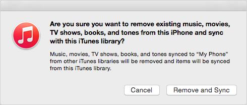 استيراد الموسيقى إلى الأيفون من iTunes على الكمبيوتر الجديد