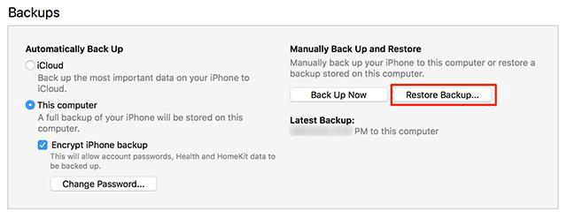 كيفية نقل البيانات من الأيفون إلى الايفون  باستخدام iTunes