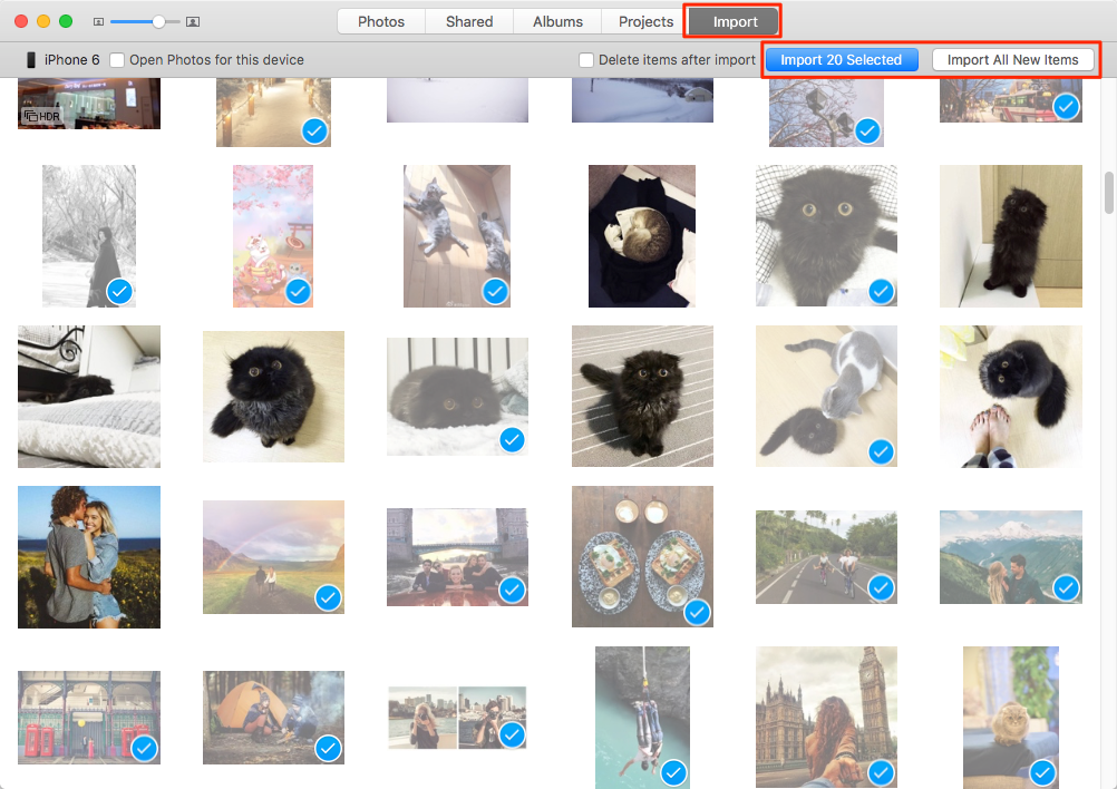 نقل الصور من الأيفون إلى الكمبيوتر على جهاز Mac باستخدام التطبيق الصور