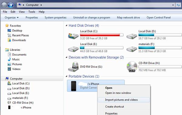 نقل الصور من الأيفون إلى الكمبيوتر عبر Windows File Explorer