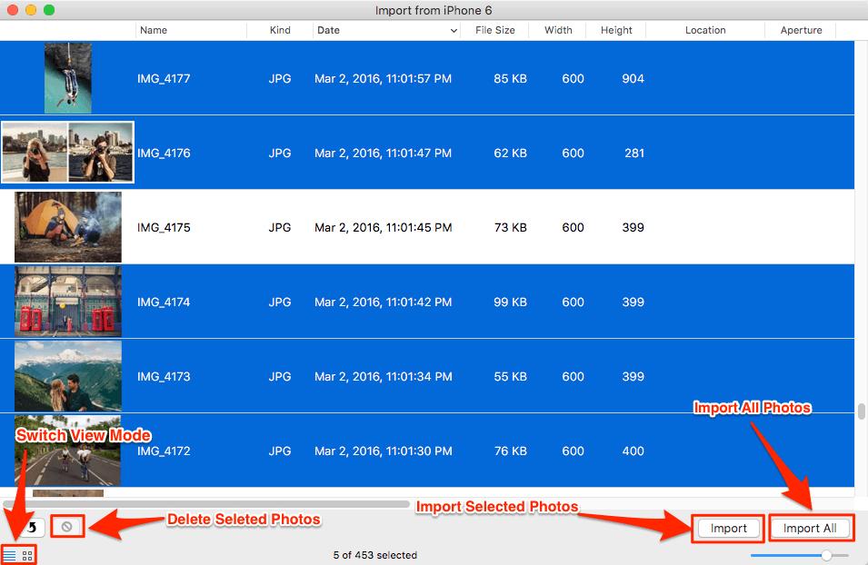 كيفية نقل الصور من الأيفون إلى الماك باستخدام Preview