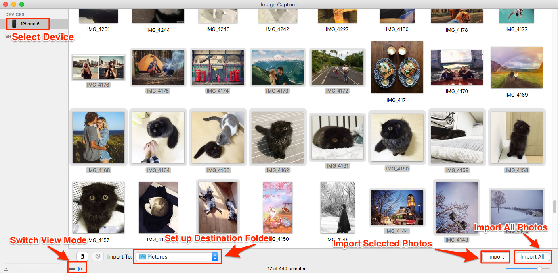 كيفية نقل الصور من الأيفون إلى الماك باستخدام Image Capture