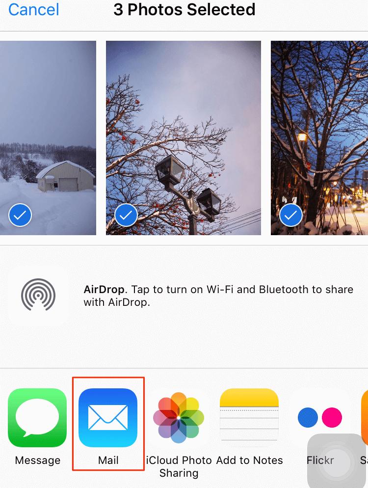 كيفية نقل الصور من الأيفون إلى الماك مع البريد الإلكتروني