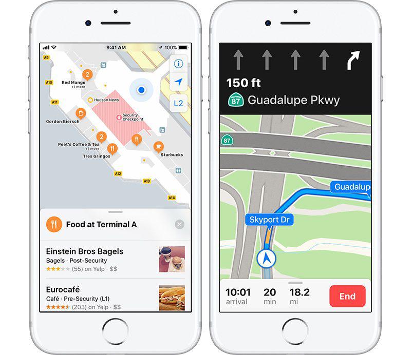 مميزات جديدة في نظام iOS 11 - الخرائط الداخلية على الطريق الصحيح