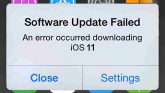 مشاكل iOS 11 - فشل تحديث البرنامج