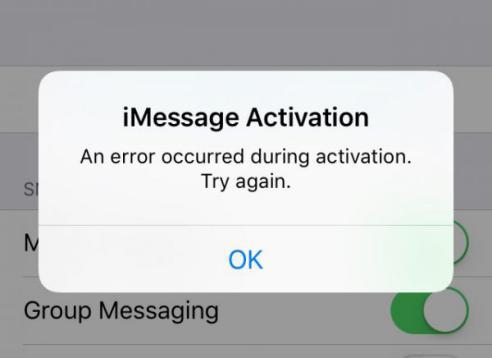 مشاكل iOS 11 - لا تستجيب رسالة iMessage
