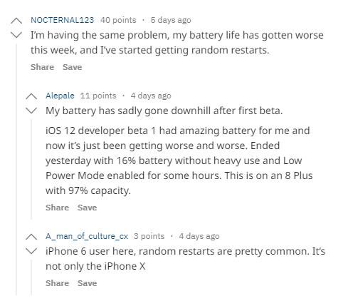 مشكلة iOS 12 - استنزاف البطارية بسرعة شديدة