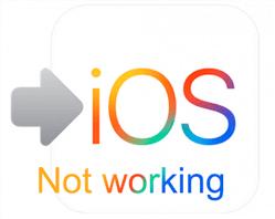 الانتقال إلى iOS لا يعمل