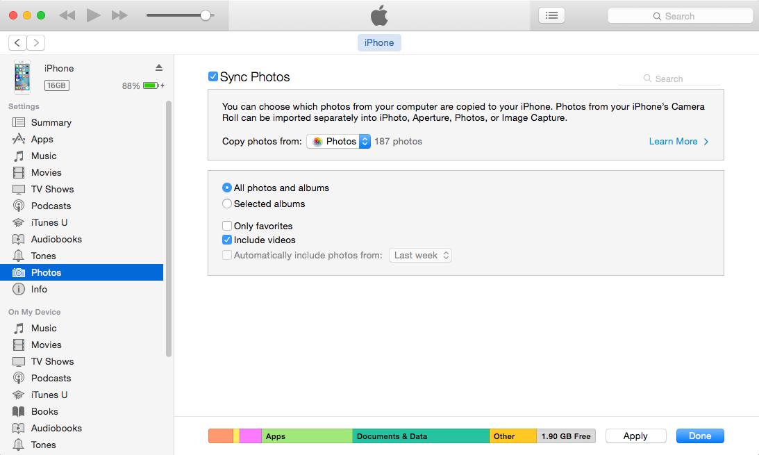 نقل البيانات من Android إلى iPhone باستخدام iTunes