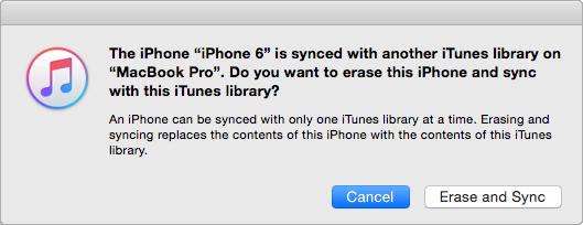 مسحت مزامنة iTunes الأغاني الموجودة