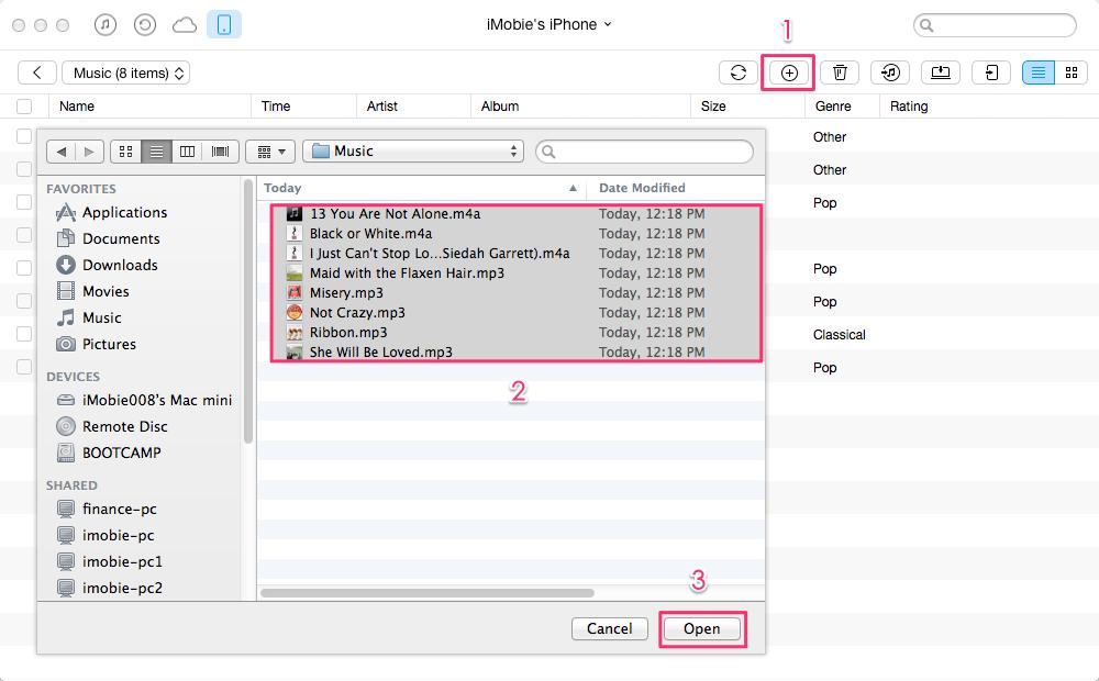 كيفية استيراد الموسيقى إلى الأيفون دون iTunes - الخطوة الثالثة
