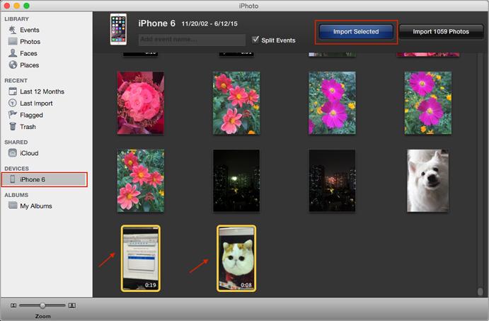 نقل الفيديوهات من الأيفون 6/6s إلى الكمبيوتر باستخدام iPhoto