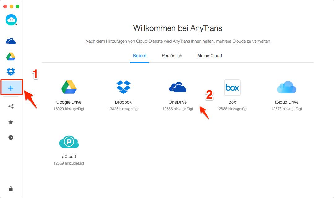2 oder mehrere OneDrive Accounts auf dem PC - Schritt 2