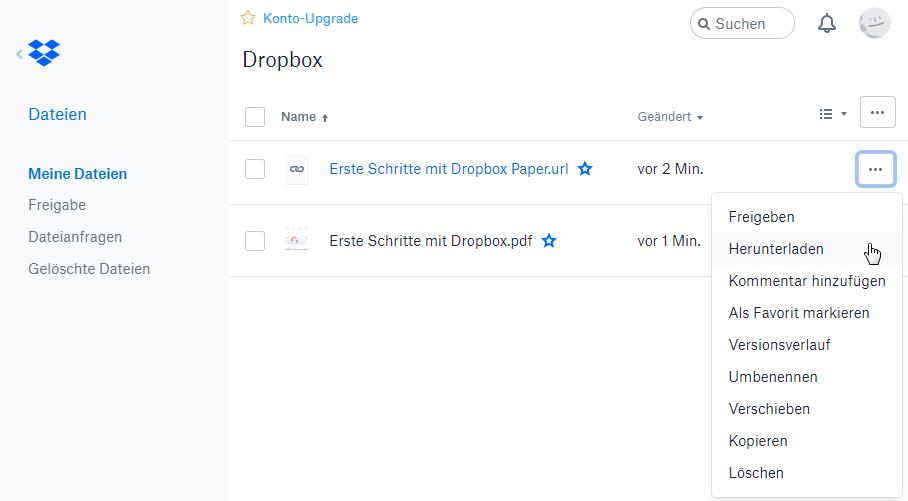Dropbox mit PC synchronisieren - Schritt 2