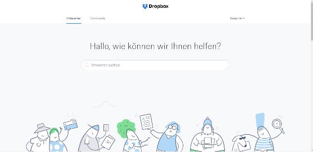 Wie kann man Dropbox Fehler 500 beheben