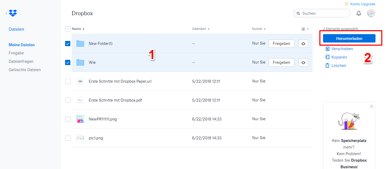 Dropbox Ordner auf PC speichern & synchronisieren