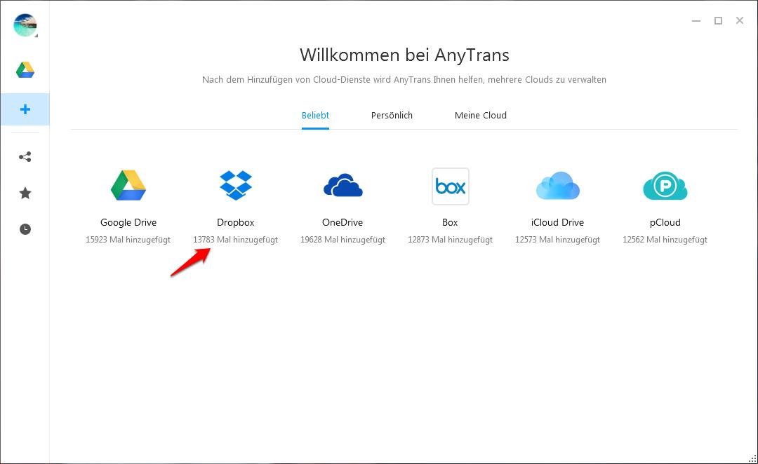 Dropbox Ordner verschieben – Schritt 1