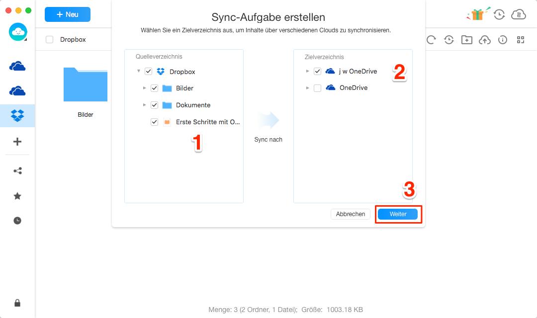 Dropbox nach OneDrive umziehen - Schritt 3