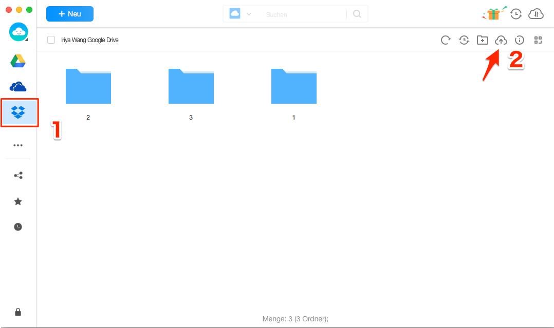 Dropbox Upload langsam oder funktioniert nicht - Alternative verwenden