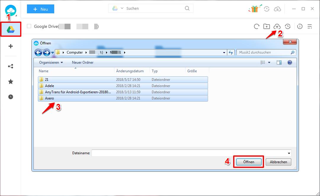 Google Drive Dateien einfach & sicher hochladen – Schritt 2