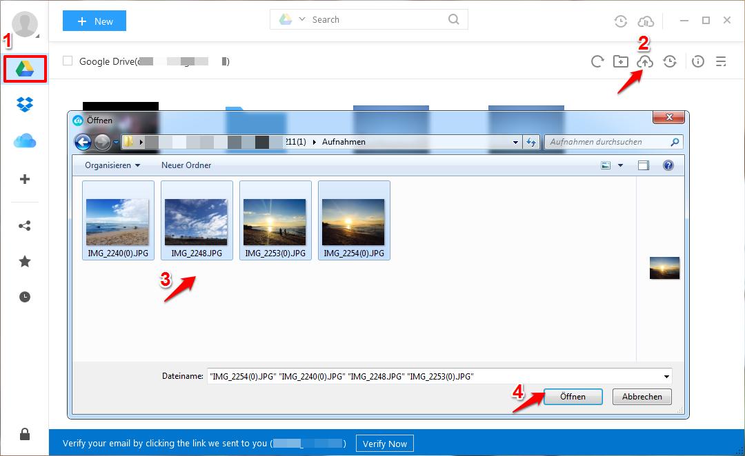 Google Drive Fotos sicher & einfach hochladen – Schritt 2