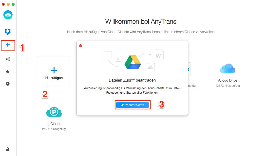Google Drive mit Dropbox verknüpfen - Schritt 2