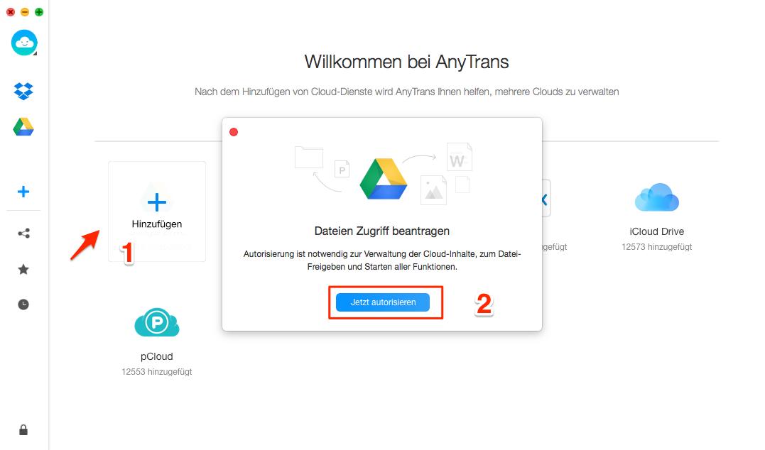 Google Drive multiple Accounts verwalten - Schritt 1