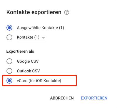 Google Kontakte auf iPhone XS/XR/X/8/7/6s übertragen