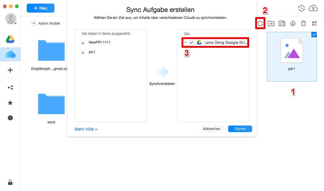 iCloud auf Google synchronisieren - Schritt 3
