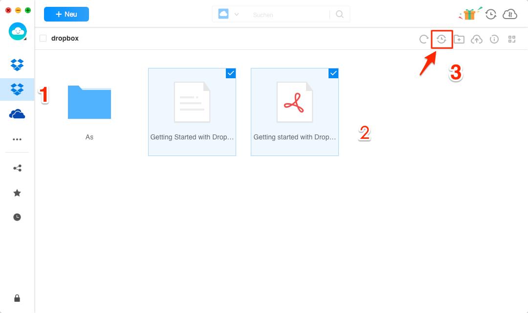 Daten zwischen 2 oder mehreren Dropbox Accounts kopieren - Schritt 3