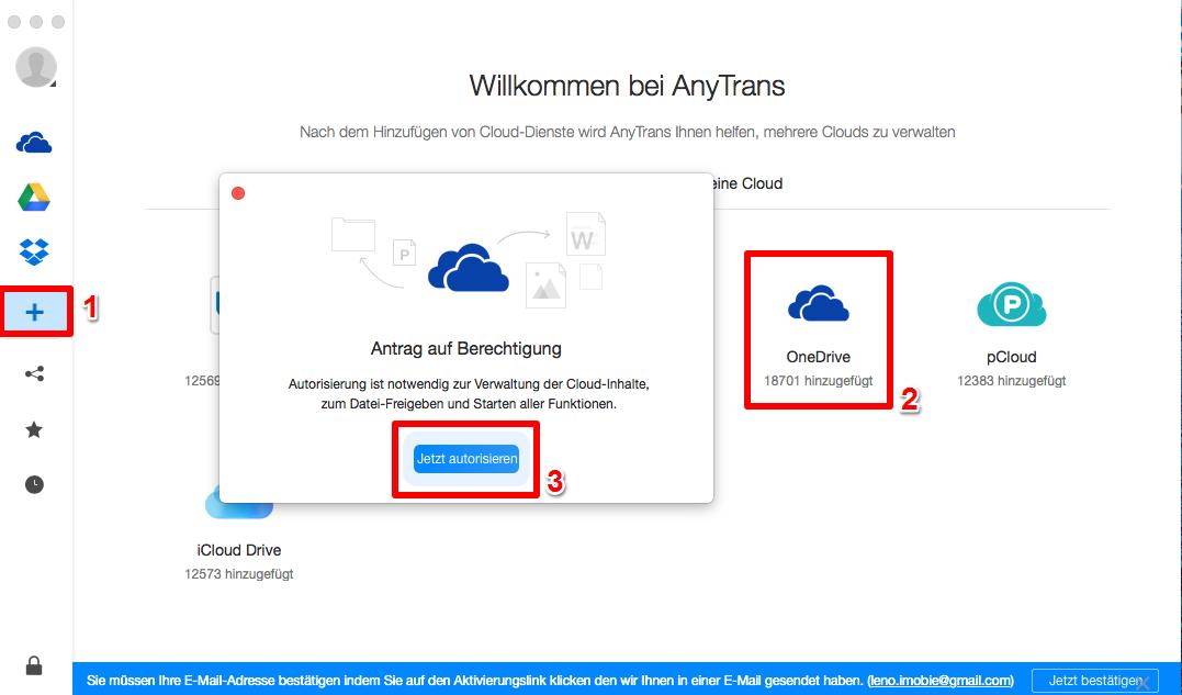 OneDrive Dateien herunterladen - Schritt 1