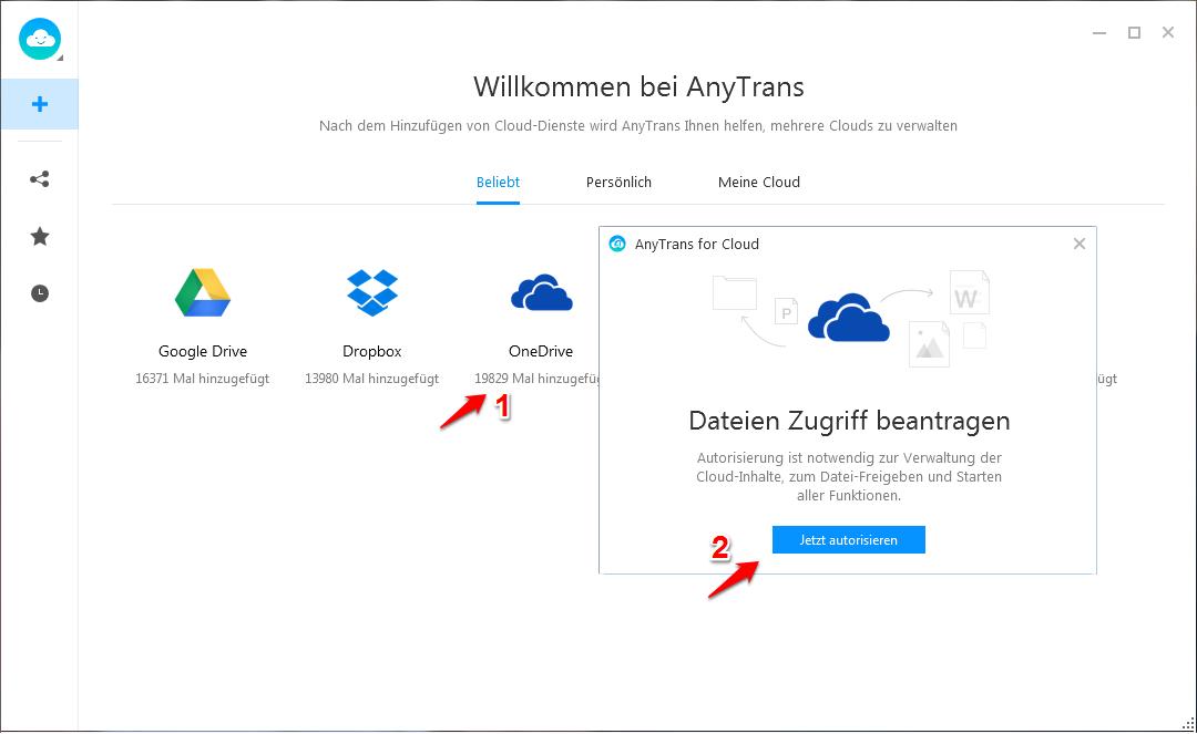 OneDrive funktioniert nicht – Mit AnyTrans verwalten