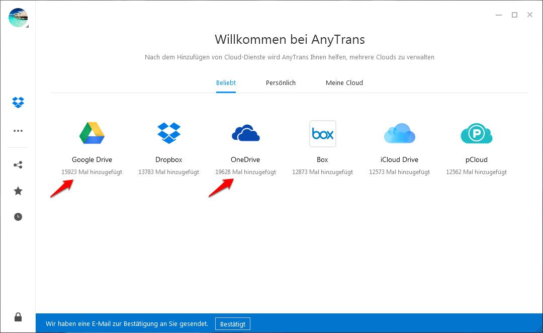 OneDrive mit GoogleDrive synchronisieren – Schritt 1