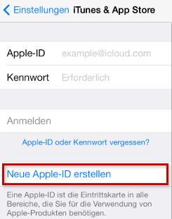 App Store Account erstellen ohne Kreditkarte – Schritt 3
