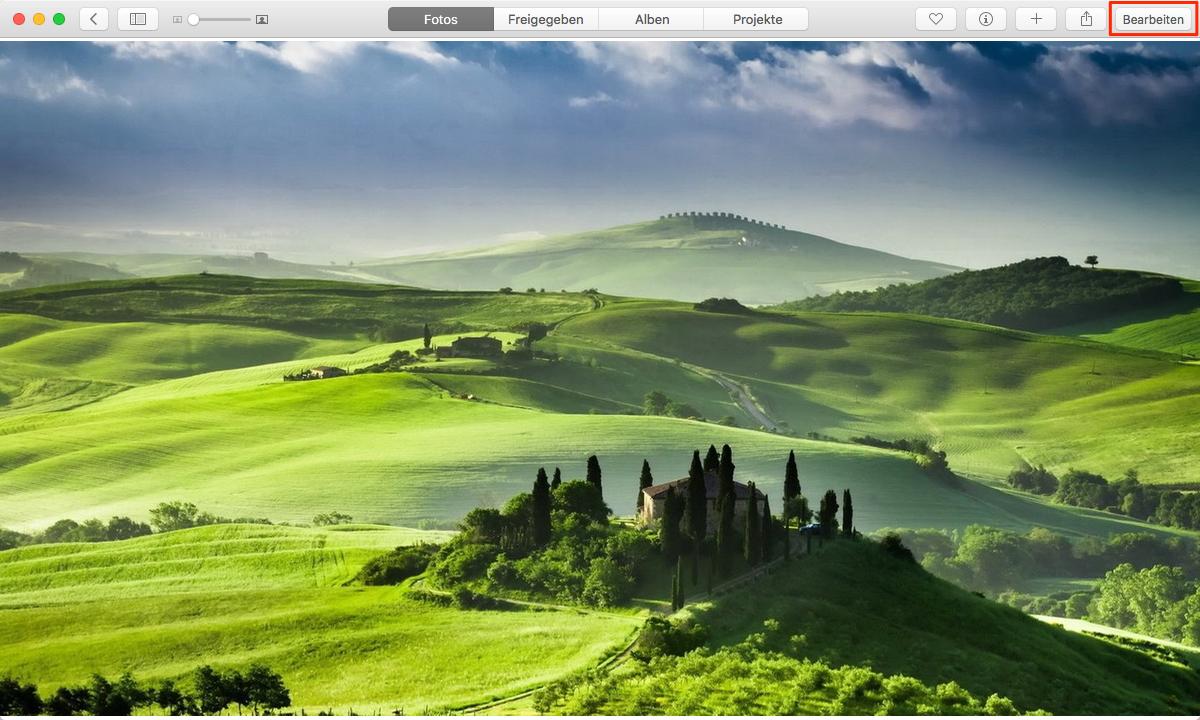 Fotos auf dem Mac bearbeiten – Schritt 5