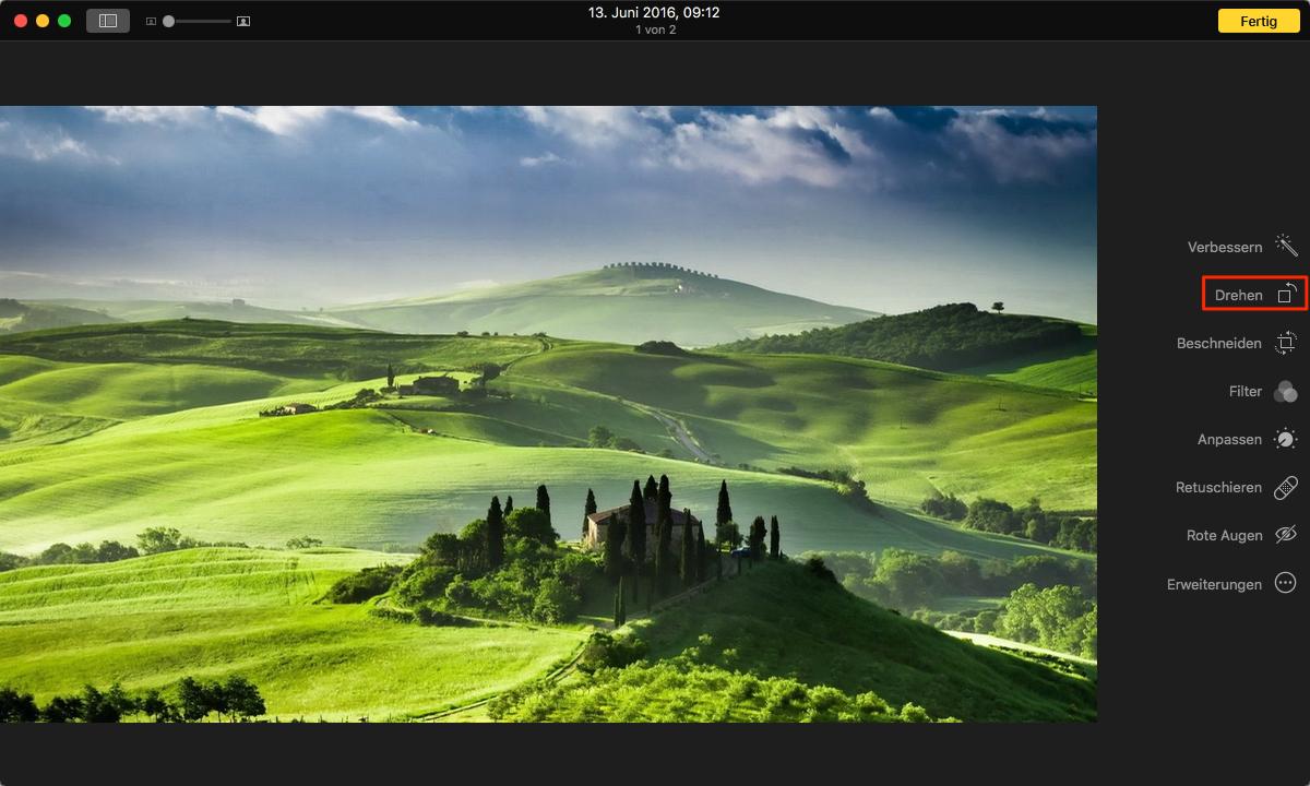 Fotos auf dem Mac drehen – Schritt 6