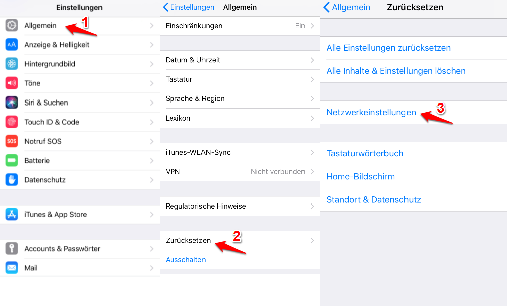 App Store funktioniert nicht – Netzwerkeinstellungen zurücksetzen