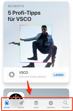 App Store lässt sich nicht öffnen - Tipp 1