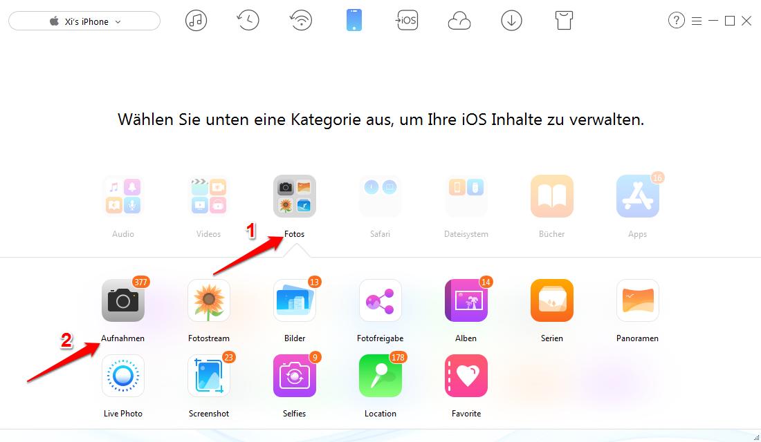 Diese Apple ID wurde noch nicht im App Store verwendet – Fotos übertragen