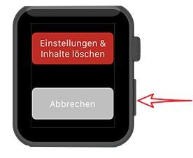 Apple Watch zurücksetzen tastenkombination