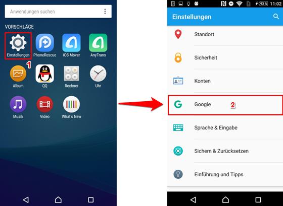 GPS Protokoll Android – Schritt 1