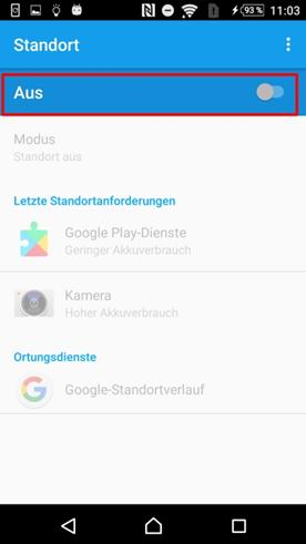 GPS Protokoll von Android – Schritt 3